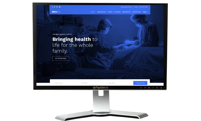 Mājas lapu izstrāde ārstniecības, medicīnas iestādei.