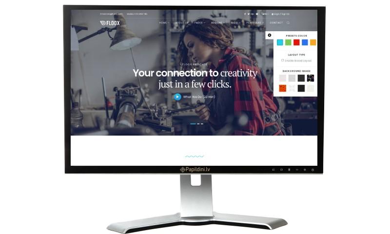 Mājas lapas izstrāde uzņēmumam, dizains № 57
