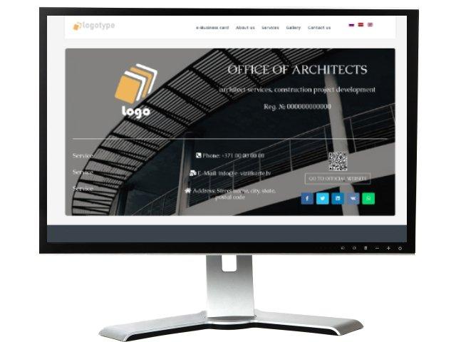 Vizītkartes tipa mājas lapu izstrāde. Dizains № 101