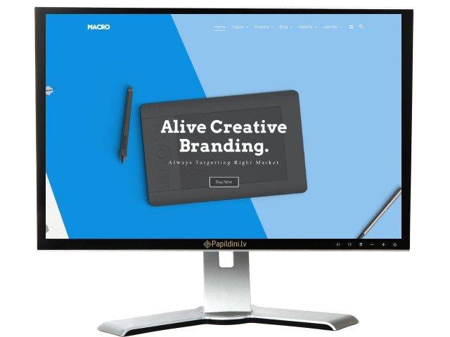 Mājas lapas izstrāde uzņēmumam, dizains № 10