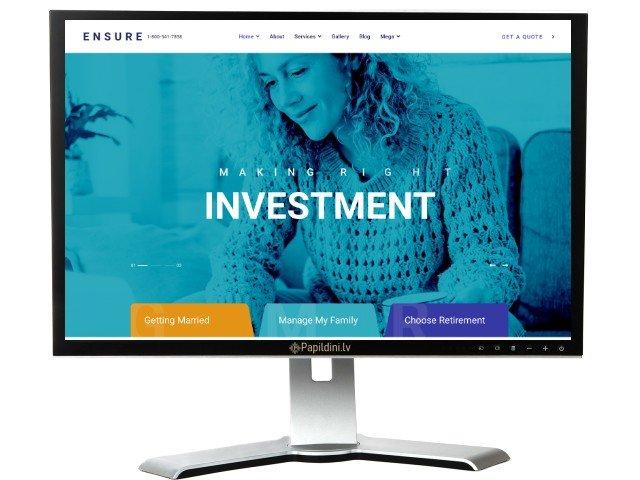 Mājas lapas izstrāde uzņēmumam, dizains № 23