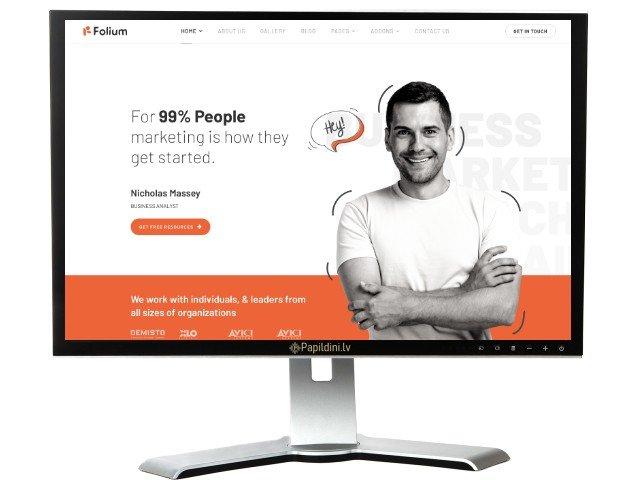 Mājas lapas izstrāde uzņēmumam, dizains № 27