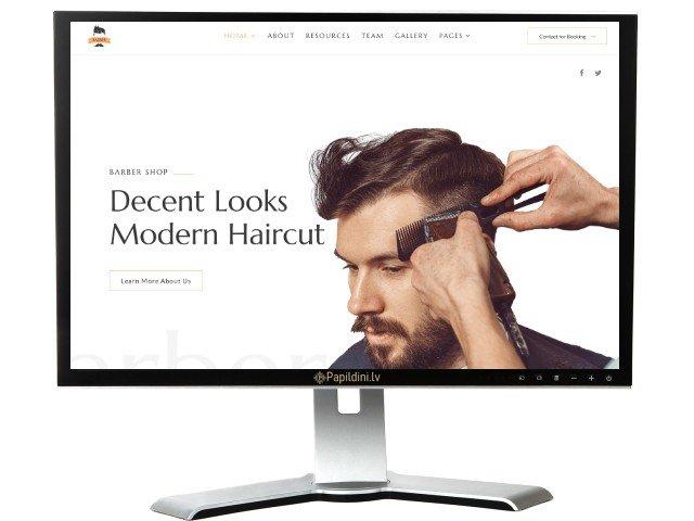 Mājas lapu izstrāde skaistumkopšanas, barber uzņēmumam.