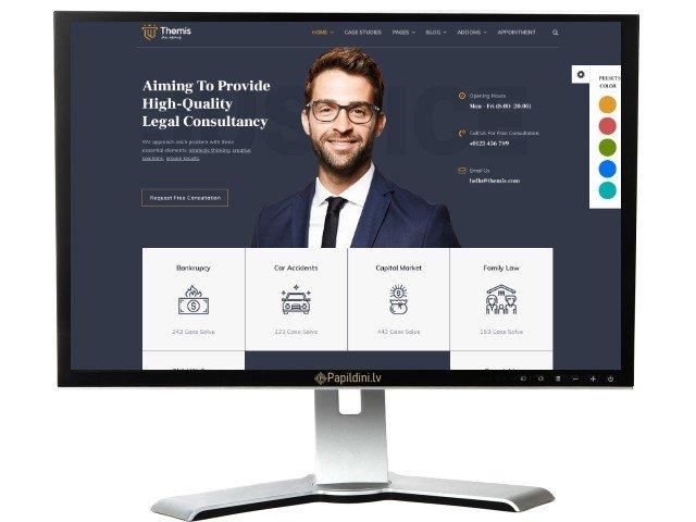 Mājas lapas izstrāde uzņēmumam, dizains № 29