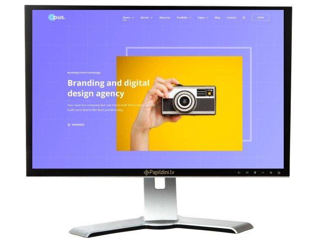 Mājas lapas izstrāde uzņēmumam, dizains № 44