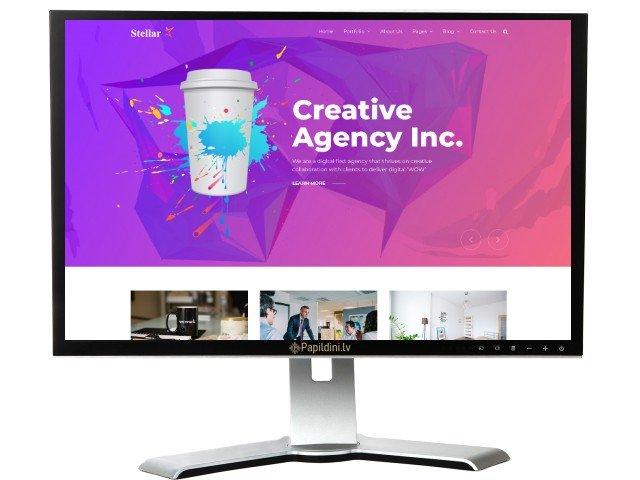 Mājas lapas izstrāde uzņēmumam, dizains № 47