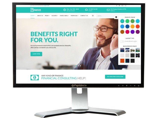 Mājas lapas izstrāde uzņēmumam, dizains № 52