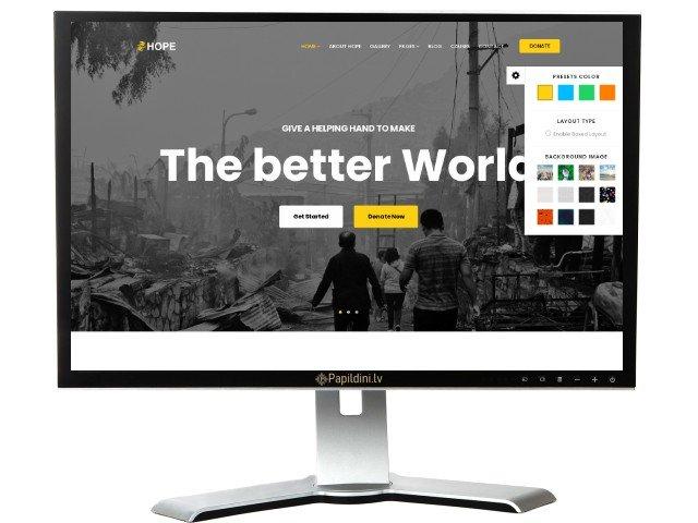Mājas lapas izstrāde uzņēmumam, dizains № 55