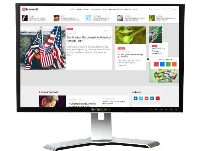 Interneta portāla mājas lapas izstrāde. Web dizains Nr. 58