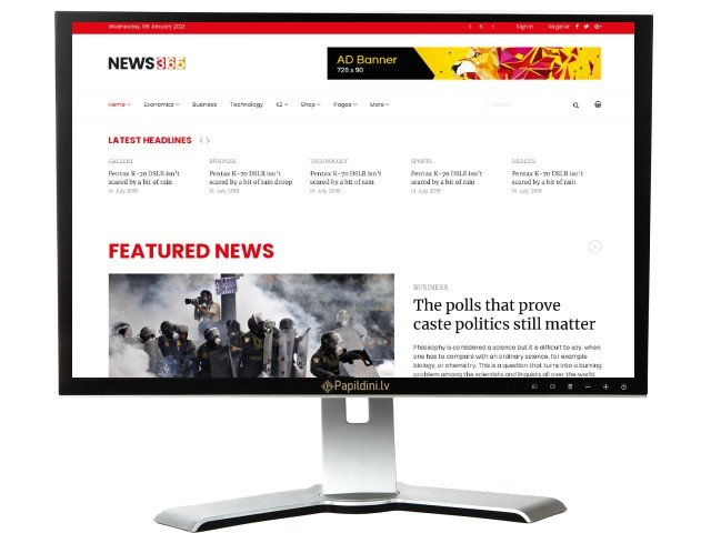 Interneta portāla mājas lapas izstrāde. Web dizains Nr. 68