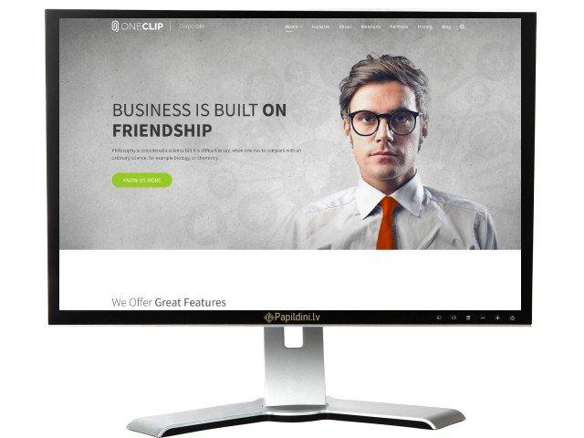 Landing Page mājas lapas izstrāde, dizains Nr. 69
