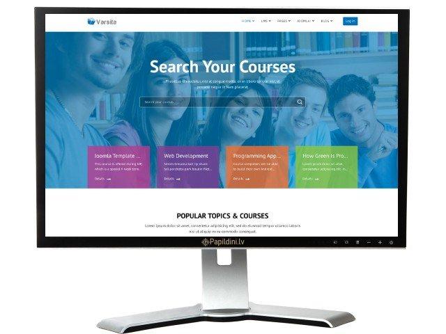 Interneta portāla mājas lapas izstrāde. Web dizains Nr. 83