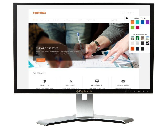 Mājas lapas izstrāde uzņēmumam, dizains № 87
