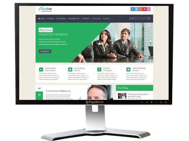Mājas lapas izstrāde uzņēmumam, dizains № 95