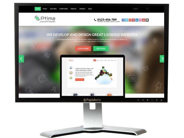 Mājas lapas izstrāde uzņēmumam, dizains № 96
