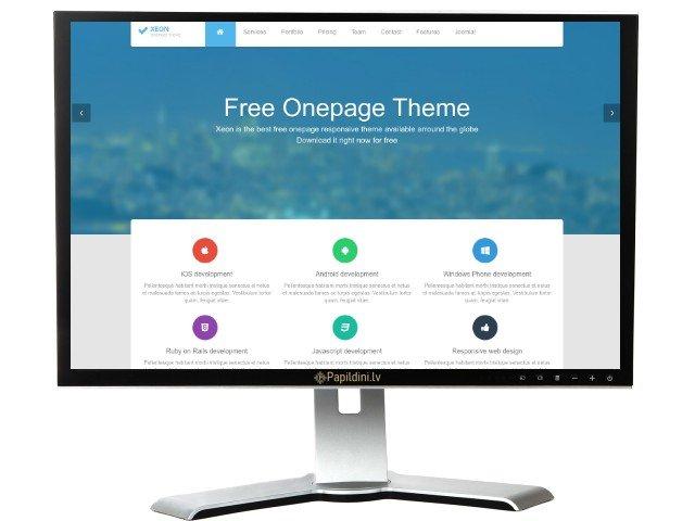 Landing Page mājas lapas izstrāde, dizains Nr. 97