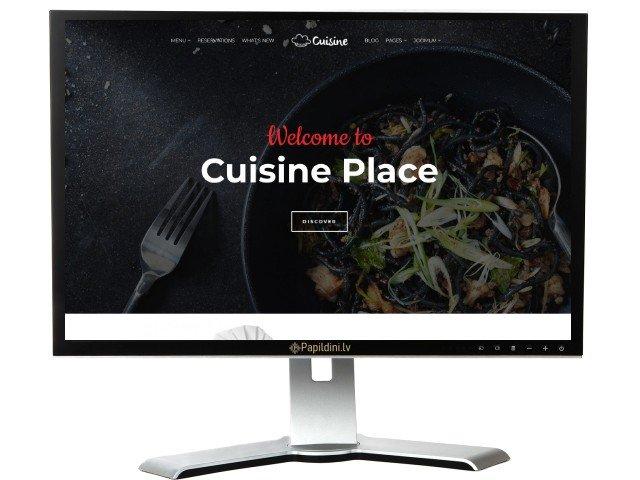 Разработка сайта классического ресторана, дизайн № 6