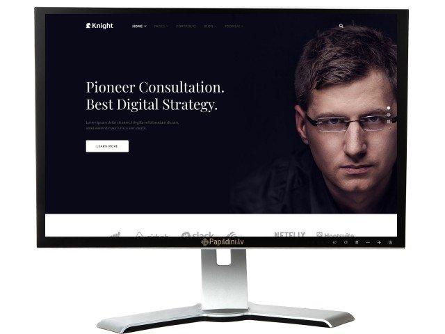 Разработка сайта бизнеса, темный вариант. Дизайн № 9