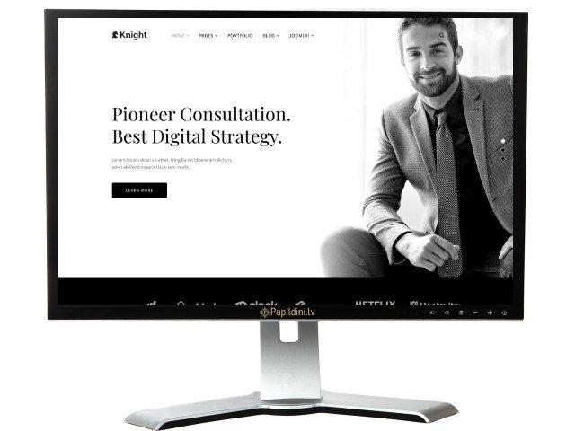 Разработка сайта бизнеса, светлый вариант, дизайн № 8