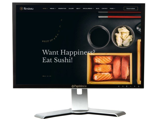 Разработка сайта для ресторана морских продуктов. Дизайн №4